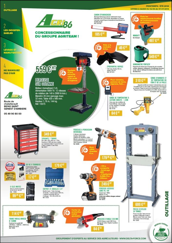 Promotions pièces détachées dans nos magasins AGRI86